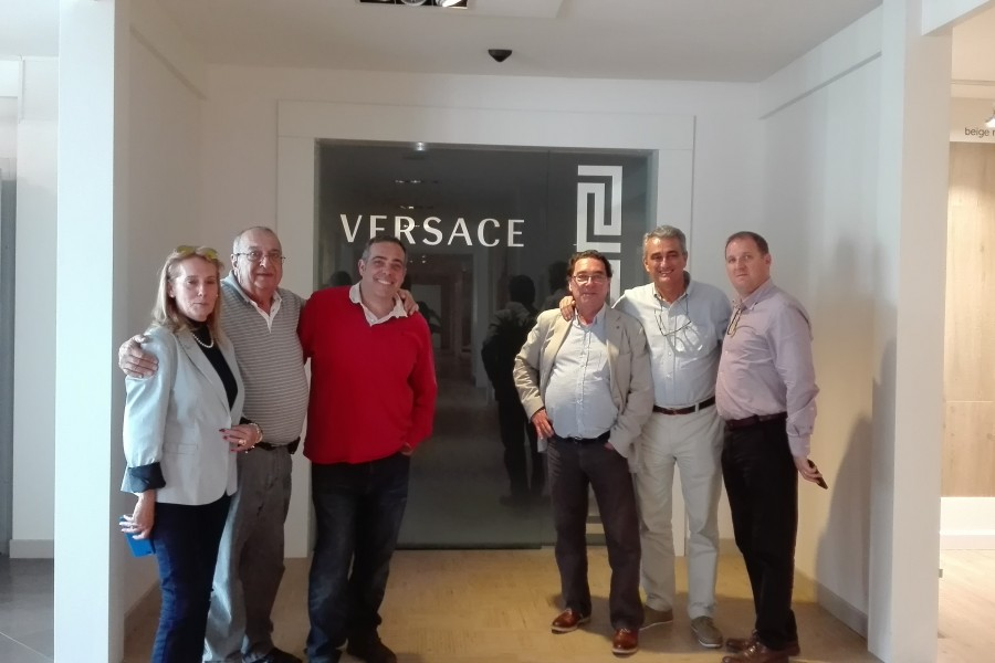 El equipo de Square de visita a Italia